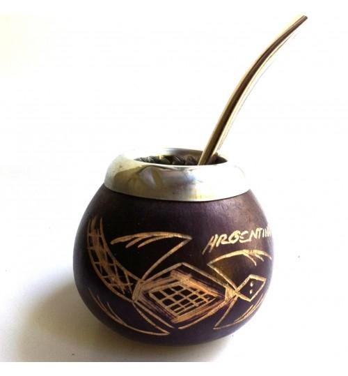 爬行獸原生瑪黛茶葫蘆連金屬吸管