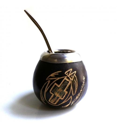 靈獸原生瑪黛茶葫蘆連金屬吸管