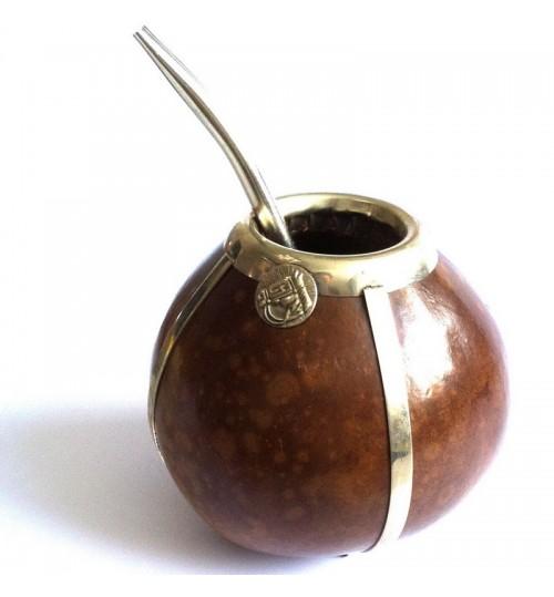 金框原生瑪黛茶葫蘆連金屬吸管