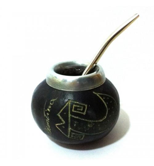 黑蛇原生瑪黛茶葫蘆連金屬吸管