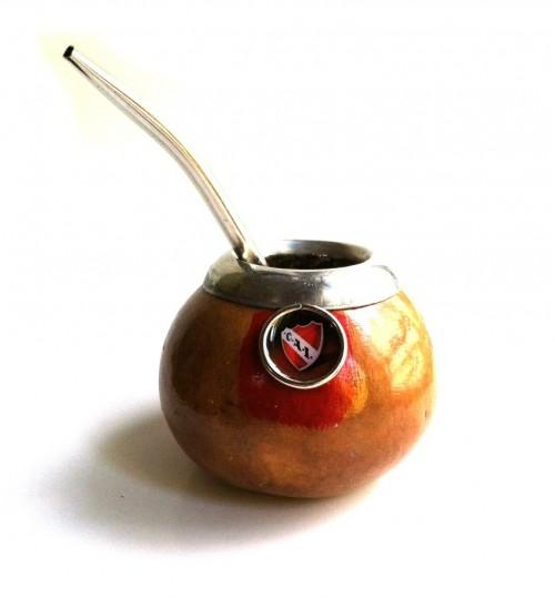 阿根廷獨立競技隊原生瑪黛茶葫蘆連金屬吸管