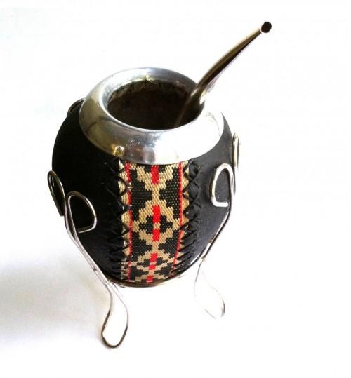 黑皮原生瑪黛茶葫蘆連金屬吸管