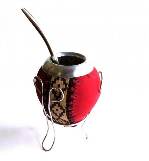 紅皮原生瑪黛茶葫蘆連金屬吸管