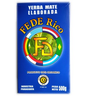 巴拉圭 Fede Rico 費德里科有機原味有梗瑪黛茶 500 克