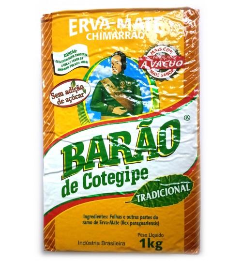 巴西 Barão 伯爵牌原始森林傳統原味瑪黛茶真空裝 1000 克