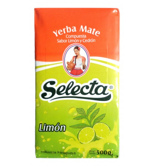 巴拉圭 Selecta 佳選牌檸檬味有梗瑪黛茶 500 克