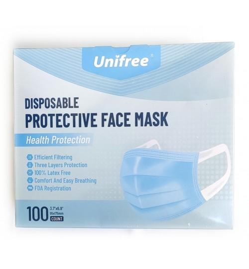 Unifree 福派一次性防護性口罩 100 個裝