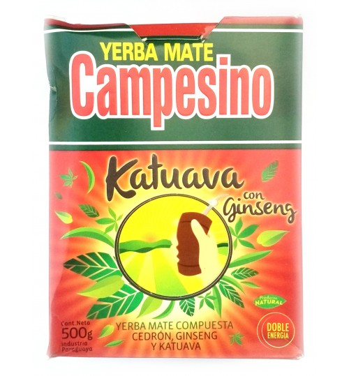 巴拉圭 Campesino 農夫牌卡圖瓦人參味有梗瑪黛茶 500 克