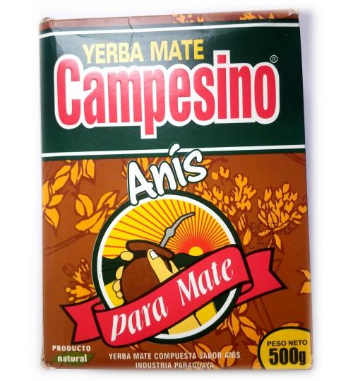 巴拉圭 Campesino 農夫牌茴芹味有梗瑪黛茶 500 克