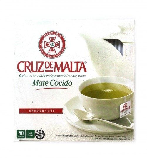 Cruz de Malta 馬爾他十字原味瑪黛茶獨立袋泡茶 50 茶包