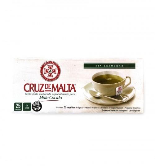 Cruz de Malta 馬爾他十字原味瑪黛茶環保袋泡茶 25 茶包