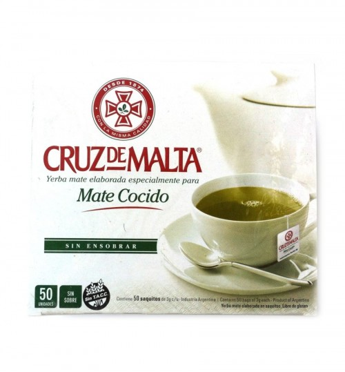 Cruz de Malta 馬爾他十字原味瑪黛茶袋泡茶 50 環保茶包