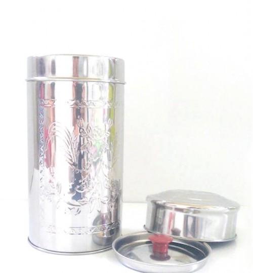 直身型瑪黛茶不銹鋼茶葉罐