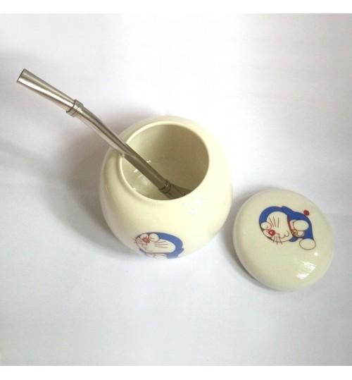 國產手工藝陶瓷茶壺及金屬吸管套裝【僅供換領】